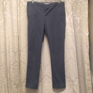 BR gray chino-style pants